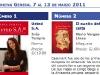 Semana del 7 al 13 de marzo 2011