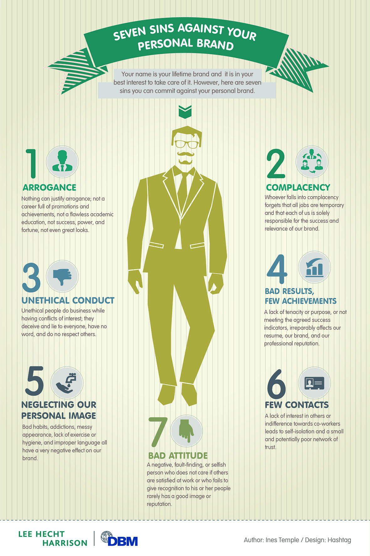 Infographic: Seven Sins Against Your Personal Brand