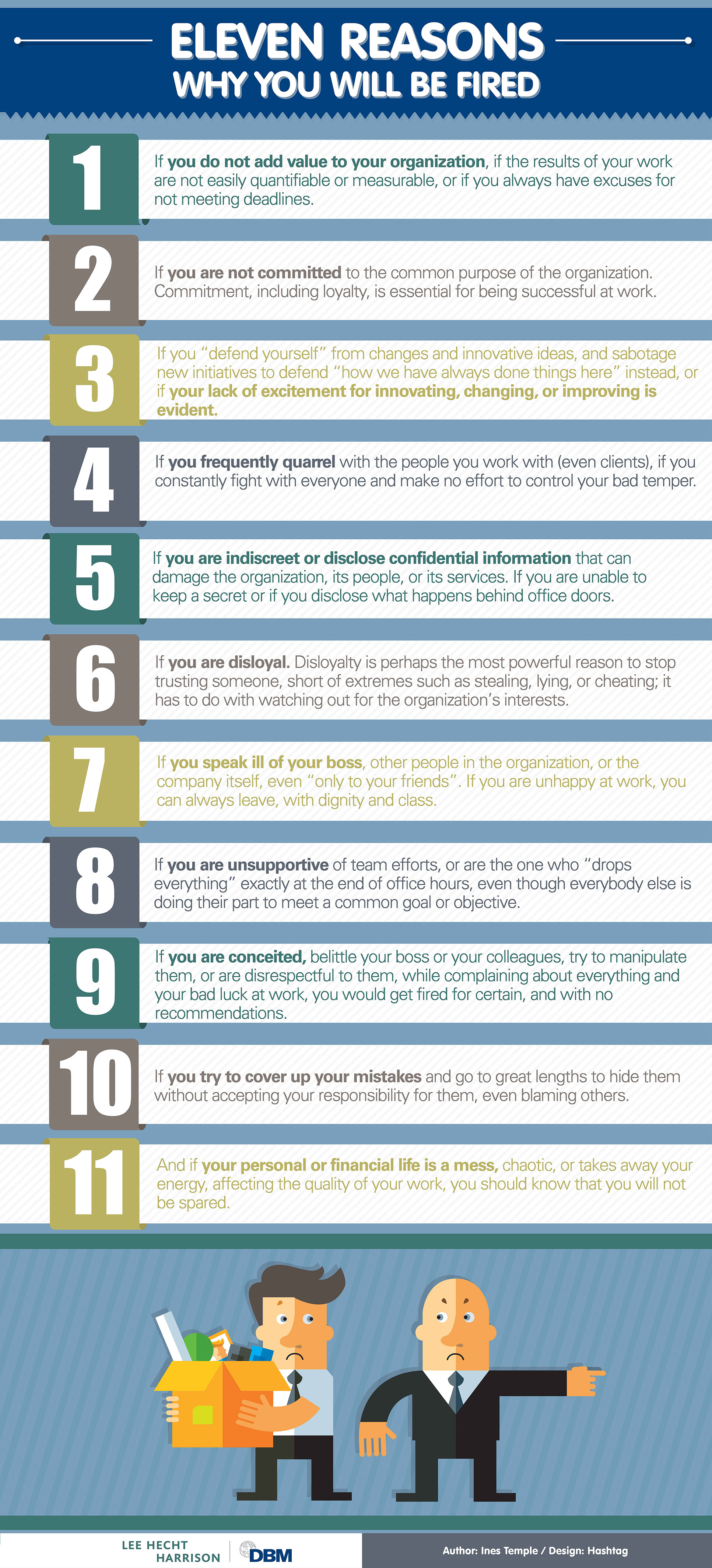 Infographic:  Eleven Reasons Why You Would Be Fired