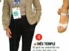 Ines Temple en revista Ellos y Ellas