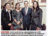 Cocktail por los 25 años de LHH DBM Perú