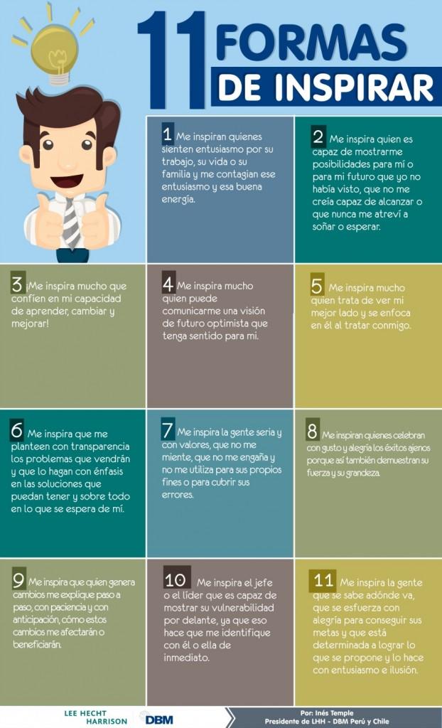 Infografía – 11 formas de inspirar