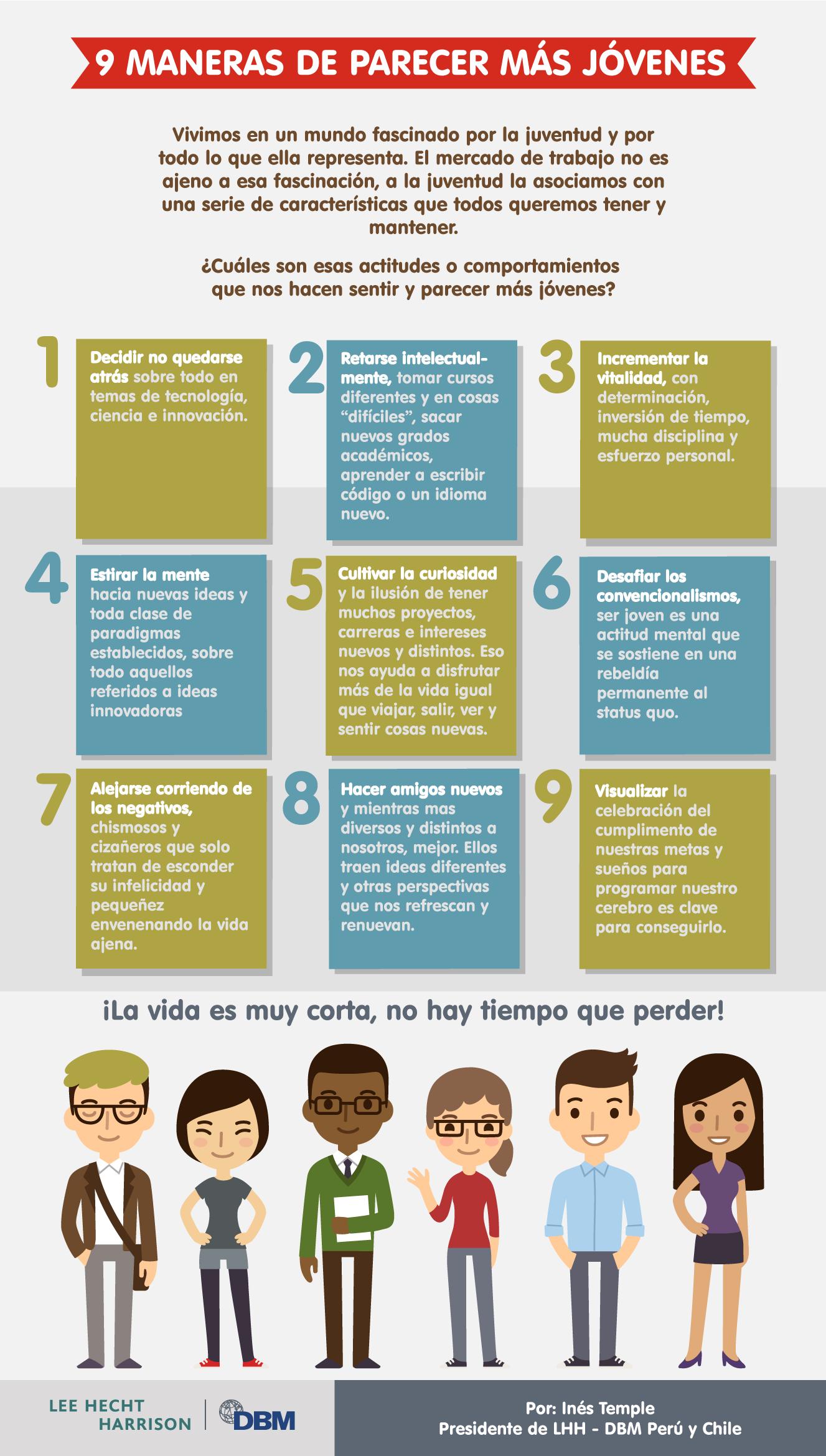 Infografía: 9 maneras de parecer más jóvenes