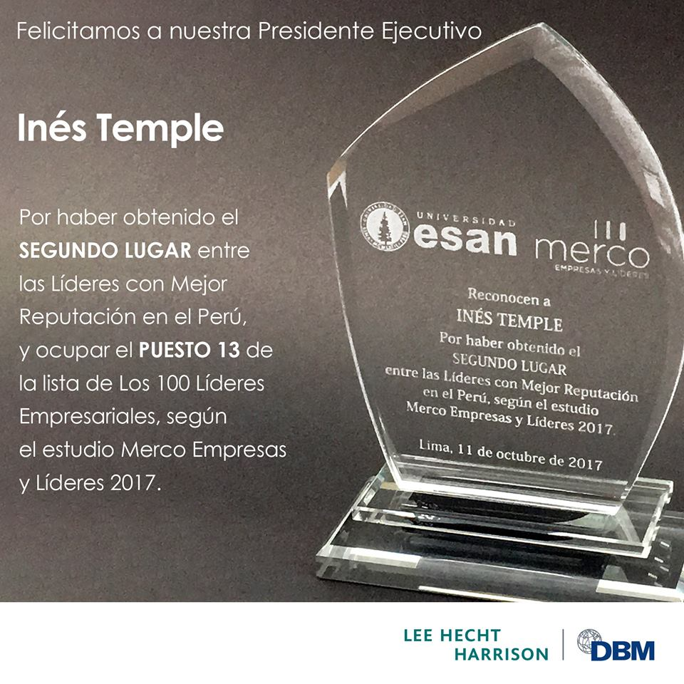 No. 2 AMONG THE MOST REPUTABLE LEADERS IN PERU
