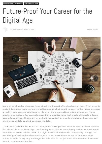 newtheory.com - April 2, 2019 - Future - Proof Your Career for the Digital Age - Ines Temple - English Mention